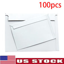Pack of 100 Rigid Mailers Paper Envelopes Bags W/Self-adhesive Strip US Shipping