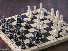Brand New Luxury Hand Carved Pop Wooden Chess Set 53cm x 53cm