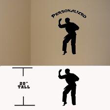 Taekwondo Personalized Martial Arts decal, Taekwondo Kung fu vinyl stickers