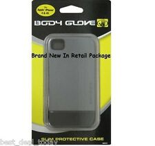 Body Glove Icon Slide-On Flat Back Case For Apple Iphone 4 4S 4G Grey 9251401