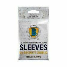 Beckett Shield Standard Size Card Soft Sleeves (100 Count)