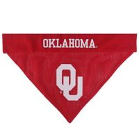 Oklahoma Sooners  NCAA Licensed Pets First Dog Pet Reversible Bandana 2 Sizes