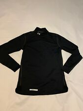 Under Armour Mens Black Ua Evo ColdGear Fitted Mock Shirt Small 1215483