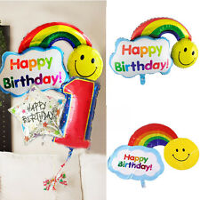 Inflatable Balloons Smile Face Rainbow Happy Birthday Wedding Party Decoration