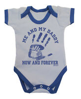 Me & My DADDY Now & Forever Funny Boys Baby Grow Bodysuit Vest Gift For Dads