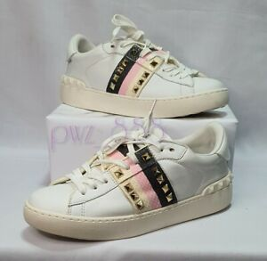 VALENTINO Rockstud White Sneakers Size 38