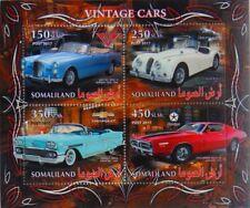 Classic cars Jaguar Alvis Chevrolet Dodge m/s #1 Somaliland 2017 MNH #VG2206