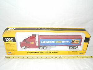 Caterpillar Rental Store Kenworth Semi With Van Trailer By Norscot 1/50th Scale!