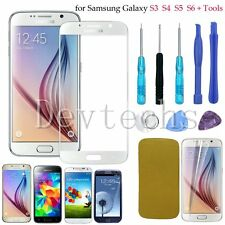 Front Touch Screen Glass Lens Replacement For Samsung Galaxy S6 S5 S4 S3 + Tools