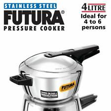 New Hawkins 4 Liter Futura Stainless Steel Pressure Cooker F41 Free Shipping