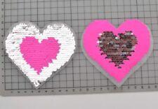 Sequins Heart Aplique Iron On patch.