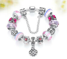 New Fashion 925 Silver Charm Bracelet for Wedding, Engagement, Anniversary 20 cm