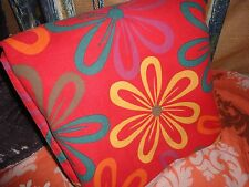 THE COMPANY STORE FLORAL RETRO 70's RED YELLOW TEAL FULL/QUEEN DUVET 84 X 88