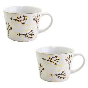 Set of 2 Holly Mugs