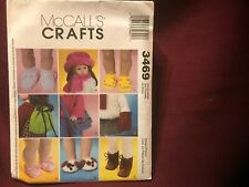 "McCall's Crafts Pattern #3469 18"" Doll Clothes New Uncut"