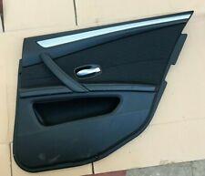 BMW 5 SERIES E60 E61 525D 03-10 OSR RH REAR DRIVER SIDE DOOR CARD. HALF LEATHER