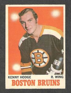 "1970-71 KEN HODGE #8 EX OPC * Boston Bruins ""Esposito Line"" Star NHL Hockey Card"