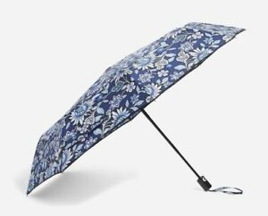 NEW Vera Bradley Umbrella Compact One Touch Automatic Open Tropical Tapestry