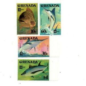 Grenada - 1987 - Game Fish - Set Of 4 Stamps - MNH