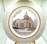 "Zion Evangelical Congregational Church 10"" Plate Mohnton PA 1955"