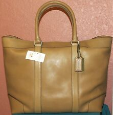 NWT Coach Legacy Sand Leather Bleecker Weekend Tote #70487
