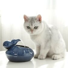 Pet Ceramic Flowing Fountain Bowl Automatic Water Drinker Feeder Dispenser Bowls
