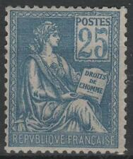 """FRANCE STAMP TIMBRE N° 118 """" MOUCHON 25c BLEU TYPE II 1900 """" NEUF xx LUXE  M550"""