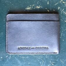 Card case / slim wallet / credit card holder / black genuine leather minimalist