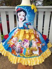 Snow White and seven dwarfs Back to School   Girls dress Size 4t Ready Ship