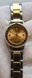 MOVADO UNISEX ESQ TWO TONE GOLD PLATED WITH DIAMOND DIAL WATCH