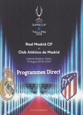 SUPERCOPPA 2018 Atletico Madrid V Real Madrid Come NUOVO programma