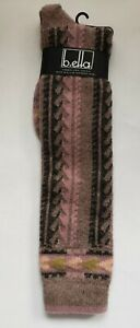 B.ella Cashmere Blend Knee High Socks Womens Girls Cocoa Rose Virgin Wool 9-11