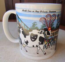 2000 Mardi Gras Road Trip Cow Travelin South Sarasota FL Collection Coffee Mug!
