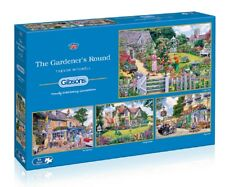 Gibsons - 4 X 500 PIECE JIGSAW PUZZLES - The Gardener's Round