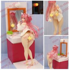 Anime illustration sexy naked nude brushing girl PVC figure & wash stand nobox