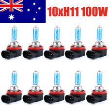 10* H11 12V 100W Xenon White 6000k Halogen Blue Car Head Globes Bulb - AU Local