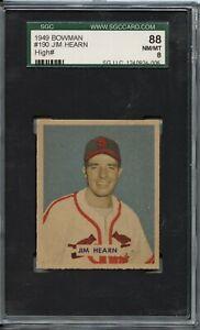 Jim Hearn 1949 Bowman # 190 - High Number - SGC 88