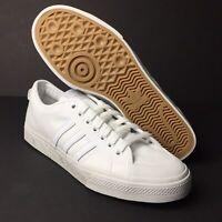 adidas Originals Nizza Sneakers Shoes Men's Size 10.5 Cloud White/Cloud White