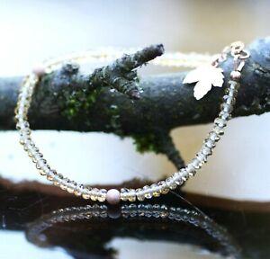 """Natural Citrine Bracelet 14k Rose Gold Filled November Birthstone 7 1/5"""" - 7 3/4"""