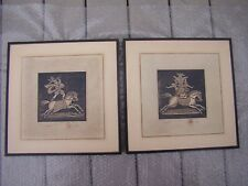Pair The Kinder Collection Framed Tiles CIRUS I and CIRUS III Signed & Stamped