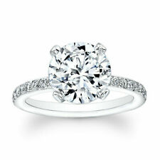 2.30 Ct Round Cut Bridal Diamond Engagement Ring 14K SOLID  White Gold
