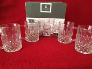 Gibson Home Jewelite 4 Glass 10 oz Mugs - New