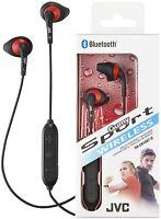 JVC HA-EN10BT BLACK Gumy Sports Wireless Bluetooth In Ear Headphones /Brand New