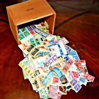 CatalinaStamps: Wooden Cigar Box Filled with US Mint Stamps, 1.5 lbs., Lot E