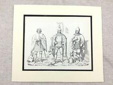 Militaire Imprimé Médiéval Allemand Nobility Knight Tenue Casque Bouclier Armure