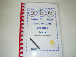 letter formation hand writing trace book A5 size use again wipe clean