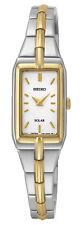 Seiko Solar Silver Dial Two-tone Ladies Watch SUP272