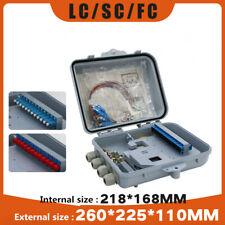 Mini 12-core fiber optic cable distribution box SC-FC-LC full flange + pigtail
