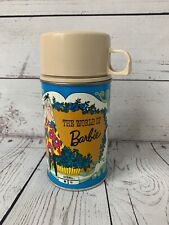 Vintage 1971 The World Of Barbie Thermos Metal with Plastic Lid Mattel