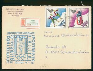 MayfairStamps Hungary Skiing & Bobsled Lake Placid 1979 Cover wwp62261